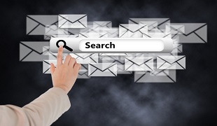 How to search corporate mailbox by company name?